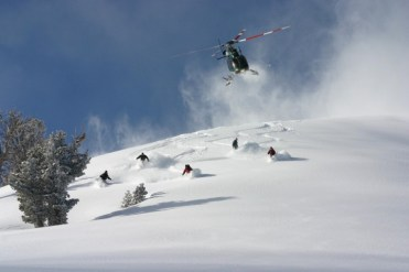 Heli operators provide all the safety and powder your equipment you'll need. | Photo: High Mountain Heli