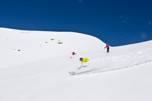 Breck bowl skiing, Peak 6