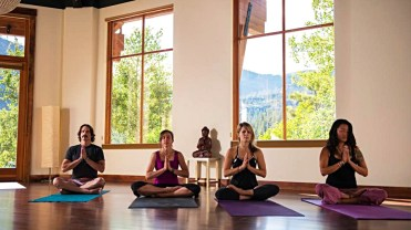 Squaw Valley's Wanderlust Yoga Studio offers a quiet space for skiers and snowboarders to rejuvenate. | Photo: Squaw Valley