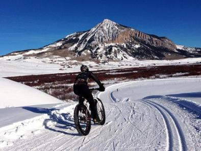 Fat biking groomed Nordic trails in Crested Butte. | Photo: Crested Butte/Mt. Crested Butte Chamber of Commerce