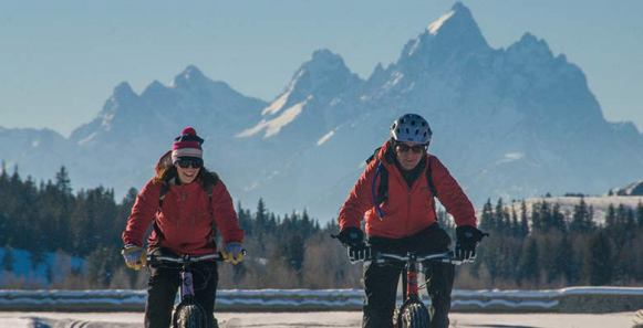 Fat biking in Jackson Hole is a great way to soak in the views. | Photo: Teton Mountain Bike Tours