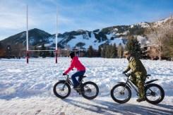 Fat biking near the base of Aspen Mountain. | Photo: Aspen Snowmass