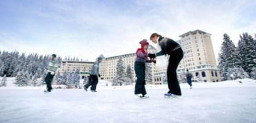 ice skating banff, ice skating lake louise