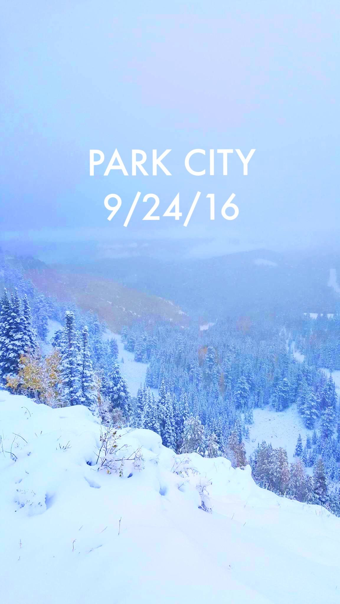 September snow in Park City