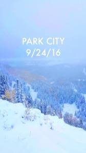 September snow in Park City