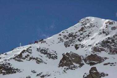The Lake Louise Back Bowl hosts extreme skiing competitions. | Photo: Lake Louise Ski Resort