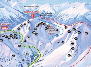 Lake Louise Back Bowl trail map