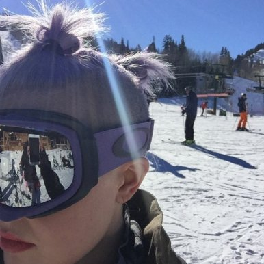 kelly osbourne skiing, kelly osbourne deer valley