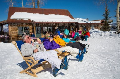 Enjoy sunny days and après-ski views at Lynn Britt Cabin. | Photo: Aspen Snowmass