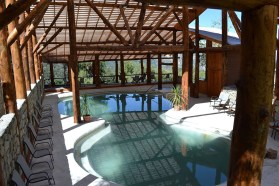 The hot springs also provide solace through an indoor structure. | Photo: Nevados de Chillan Termas and Spa