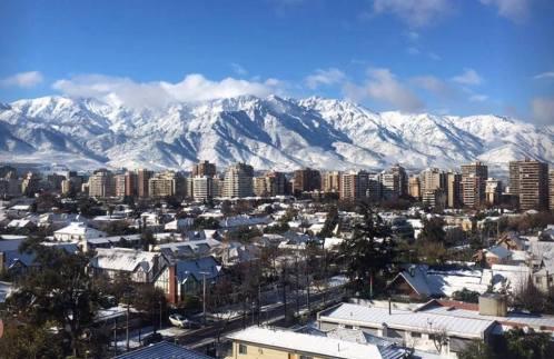 Santiago reviews 2 in of snow
