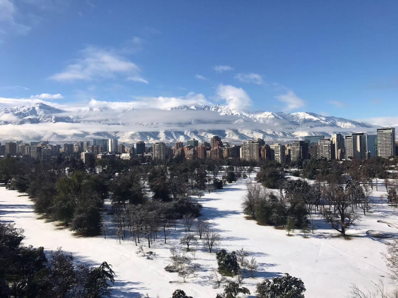 snowstorm in santiago, chile