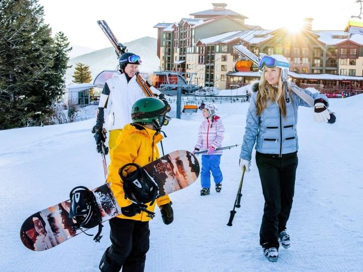 family skiing park city