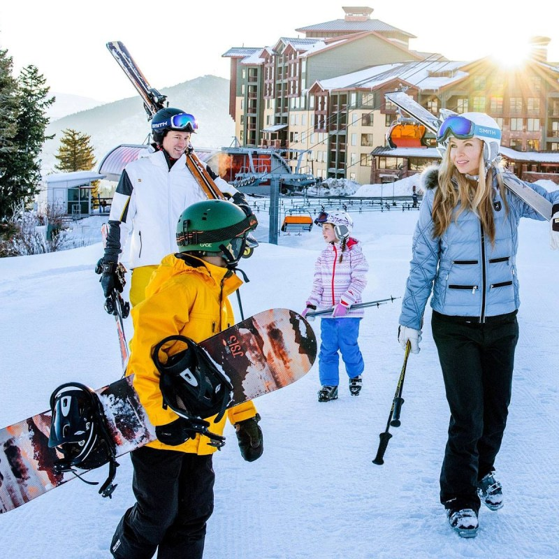 family skiing park city