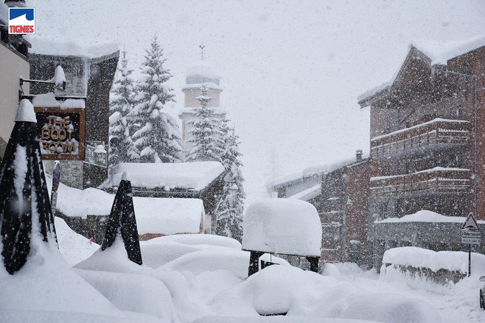 alps snowfall 17/18