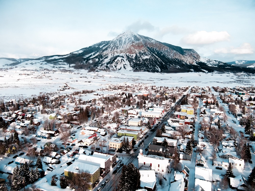 aerial photo Crested Butte, drone photo Crested Butte