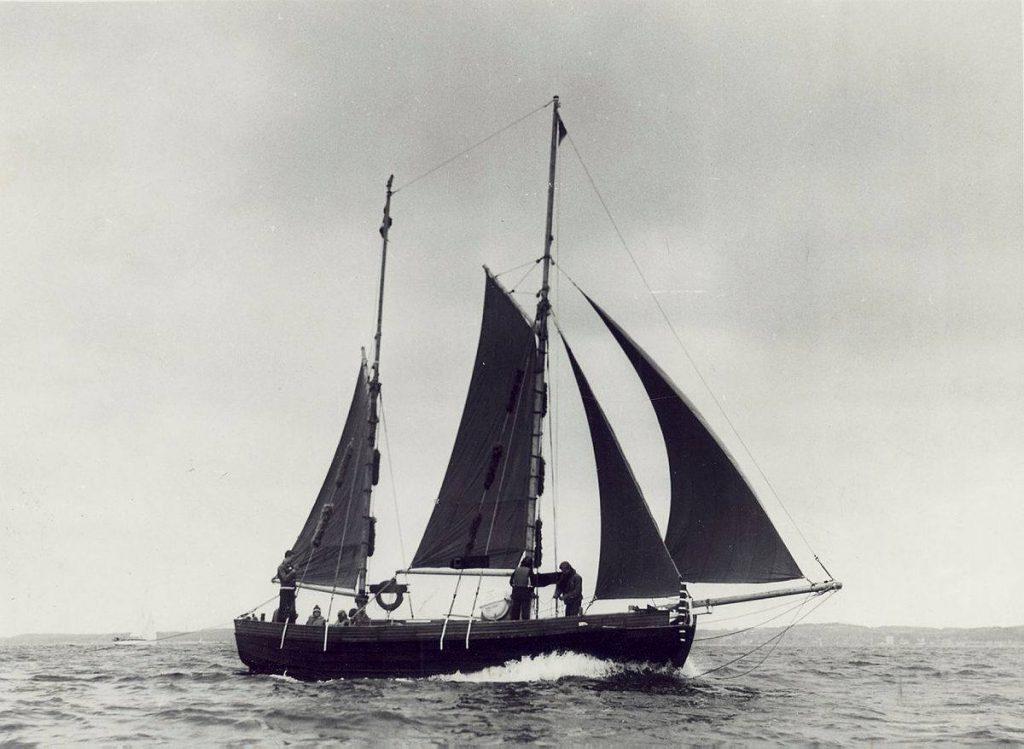 Skibet træskib båd sejlads