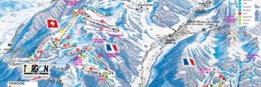 La Chapelle d'Abondance Piste Map