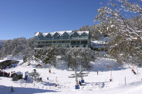 falls creek in winter