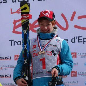 Saison 2015 / 2016 : Benjamin HOAREAU, Champion de FRANCE U14 en Géant : une première pour les Pyrénées depuis 34 ans.