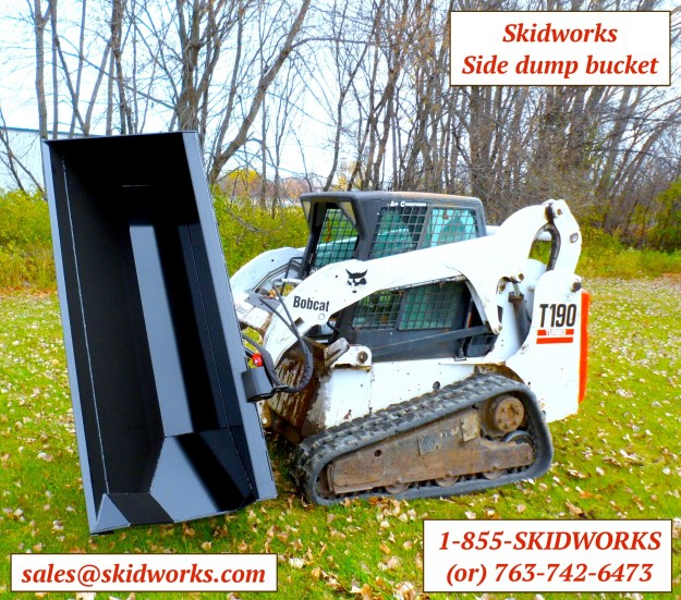 side dump skid steer