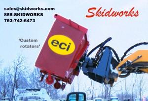 demolition, cleanup, skid steer, rotator, pallet forks