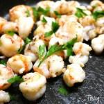"Welcome Annia AKA ""Tiny Taster"" to Skiff Life, introducing Annia's Rock Shrimp…mmmm, Tasty!"