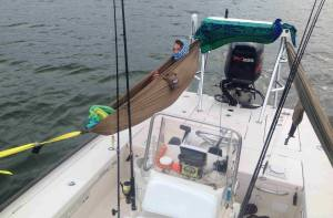 DIY Skiff Hammock for Camping and Fishing overnight trips.