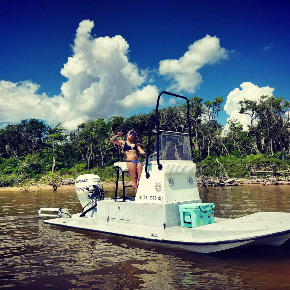 Scooter style Texas skiffs are a huge advantage fishing in South Texas.
