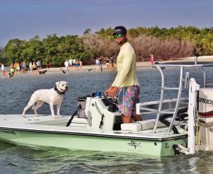 Beavertail Skiffs, bring a pet human aboard!
