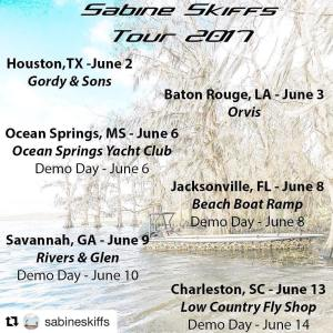 The @sabineskiffs tour kicks off next week!  Share and help spread the word for …