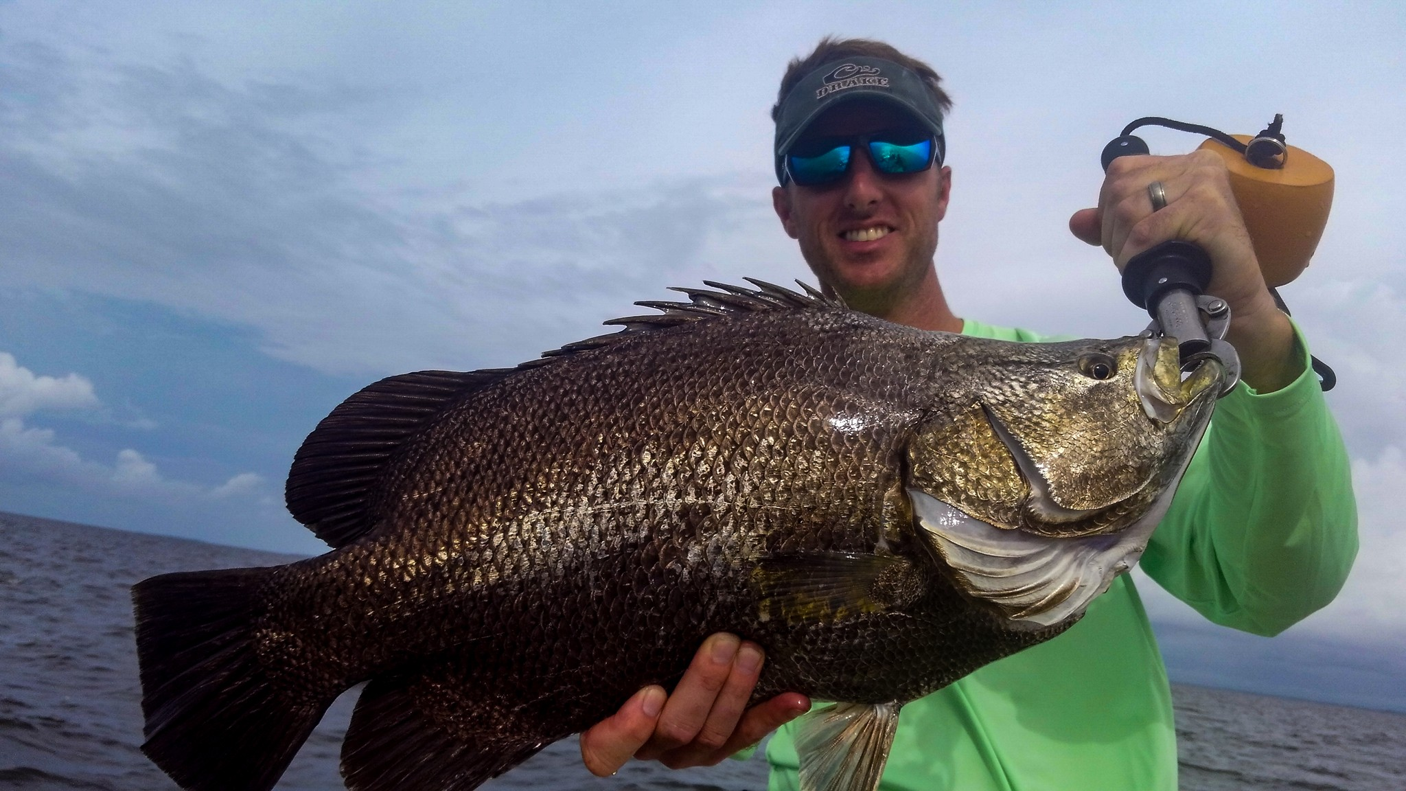 Tripletail Fishing with Southern Salinity Guide Service in Apalachicola.