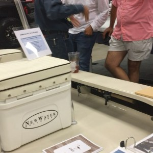"""Here at the Fishing and Hunting Expo with NewWater Boatworks showcasing the """"Sti…"""