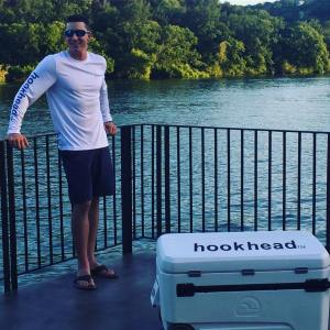 An o.g hookhead…  wearing our white UV protective long sleeve.                …