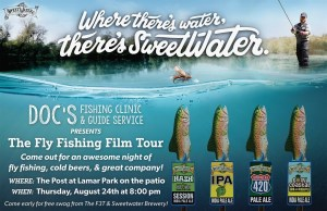 Come out next Thursday, August 24th for a night of world class fly fishing films…
