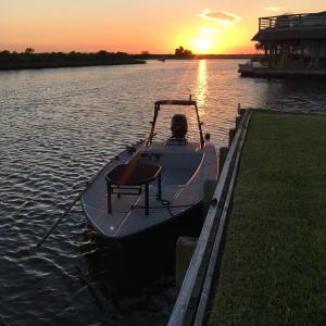 This pretty thing is finally on the water.  We spent the evening breaking in the…
