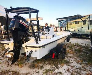 Setting up for the third annual Beavertail Skiffs owners tournament in Ruskin Fl…