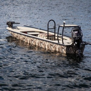 FishyWraps does all boat sizes including small skiffs. Camo Wraps are very popul…