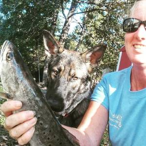 My charter shared their fish with me today! Emma's happy too!                   …