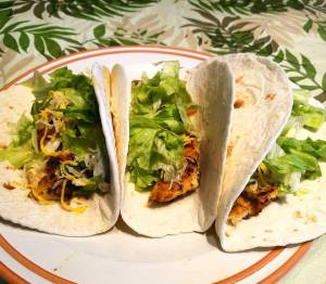 Sheepshead tacos for lunch!