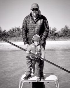 Polling the flats with Dad!        …