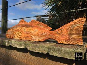 "Texas redfish art, proudly displaying ""Lonestar"" spot."