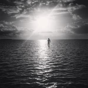 Guide Garth Thompson hooked up at sunrise on a secret Exuma flat.               …