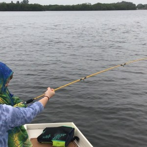 Mason fighting a fish in Cockroach bay. He sure love to fish.     …