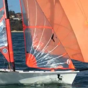 Past training session trying to perfect our downwind straight lining   …