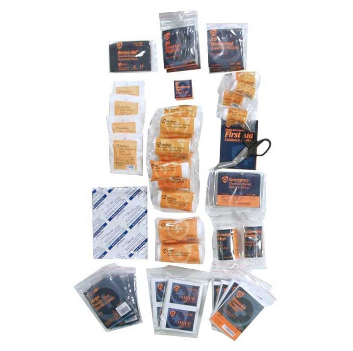 A refill kit for small first aid boxes