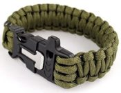 Paracord Bracelet With Survival Whistle
