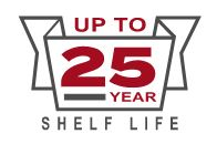 Up To 25 Year Shelf Life
