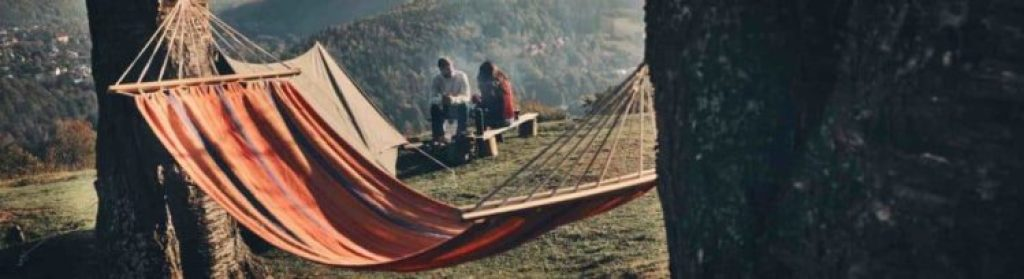 hammock at campsite in mountains 1