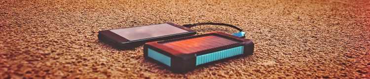 solar power phone charger on beach (1)